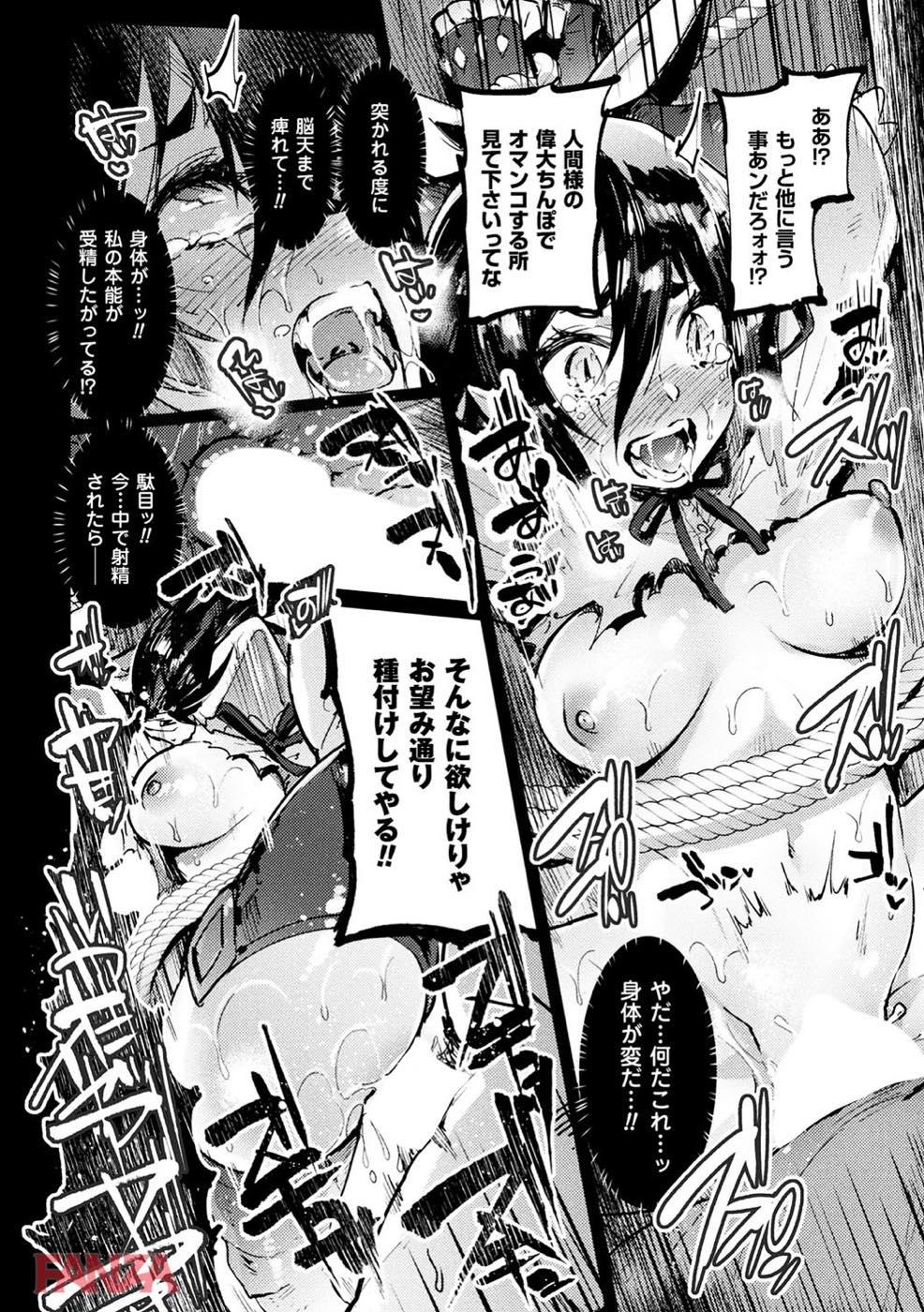 無料エロ漫画 【獣人狩りエロ漫画】人間に捕まった獣人は自分の尻尾でおまんこされて晒し者に…そのまま精神崩壊するまで輪姦され続ける【探訪者への洗礼/伊丹】 FANZA